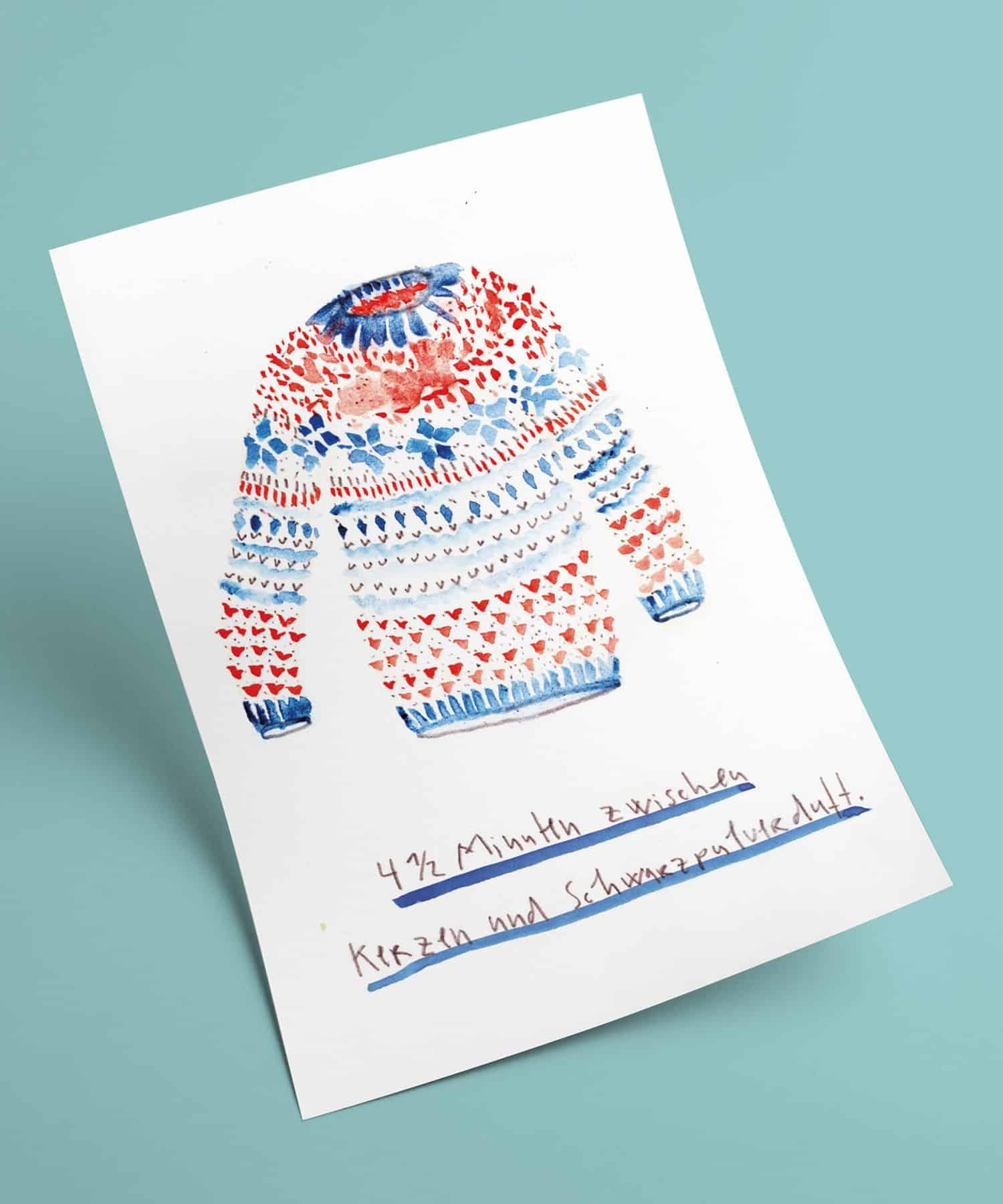 161127-Matrosenhunde Weichnachts- und Neujahrspostkarte: 4 1/2 Minuten zwischen Kerzen und SChwarzpulverduft