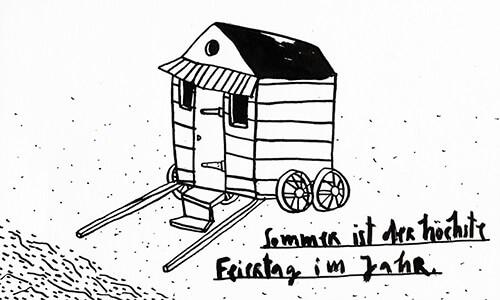 Matrosenhunde Illustration Zeichnung Illustratorin Text Prosa Wochenkalender