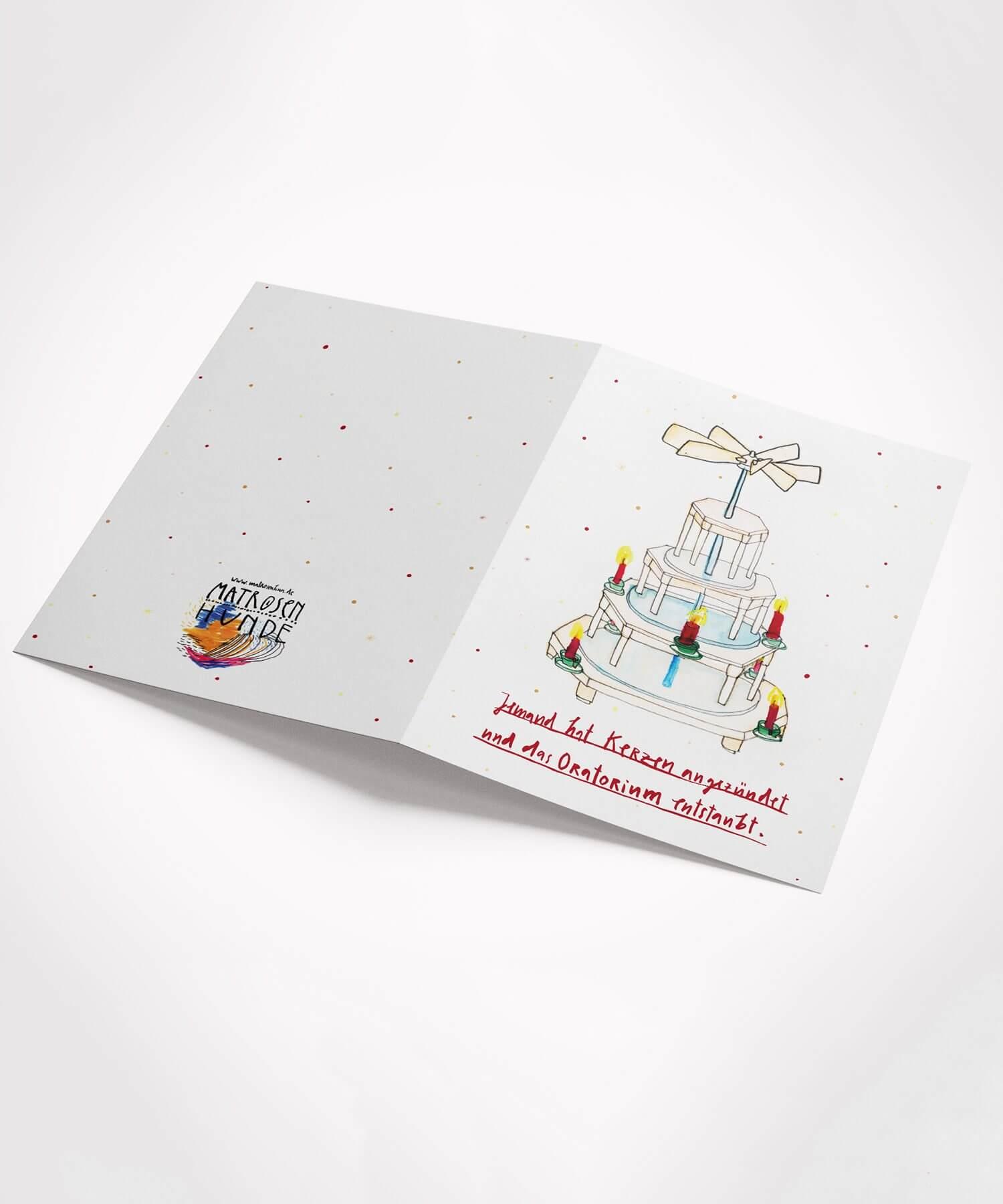 Weihnachtskarte Matrosenhunde