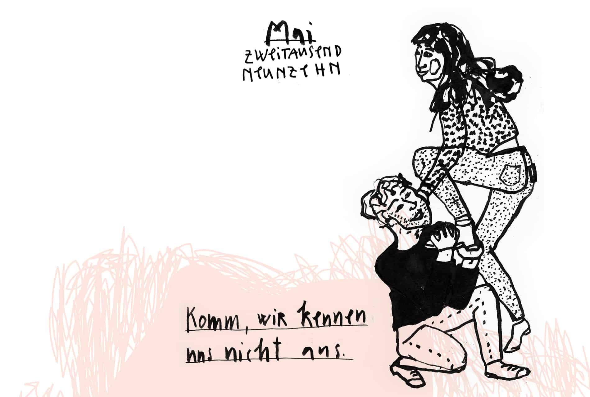 Matrosenhunde Illustration Zeichnung Illustratorin Text Prosa Monatskalender