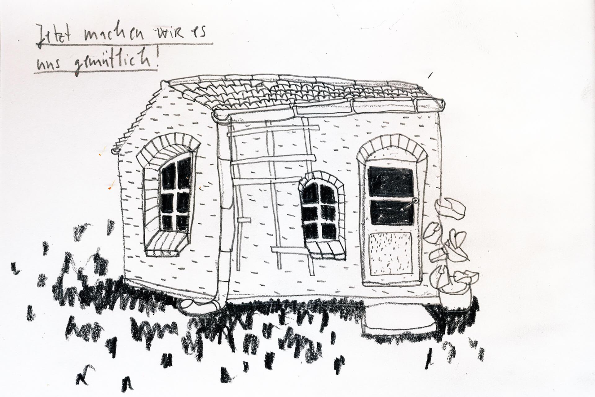 Matrosenhunde Illustration Zeichnung Illustratorin Text Prosa Wochenkalender Jetzt machen wir es uns gemütlich