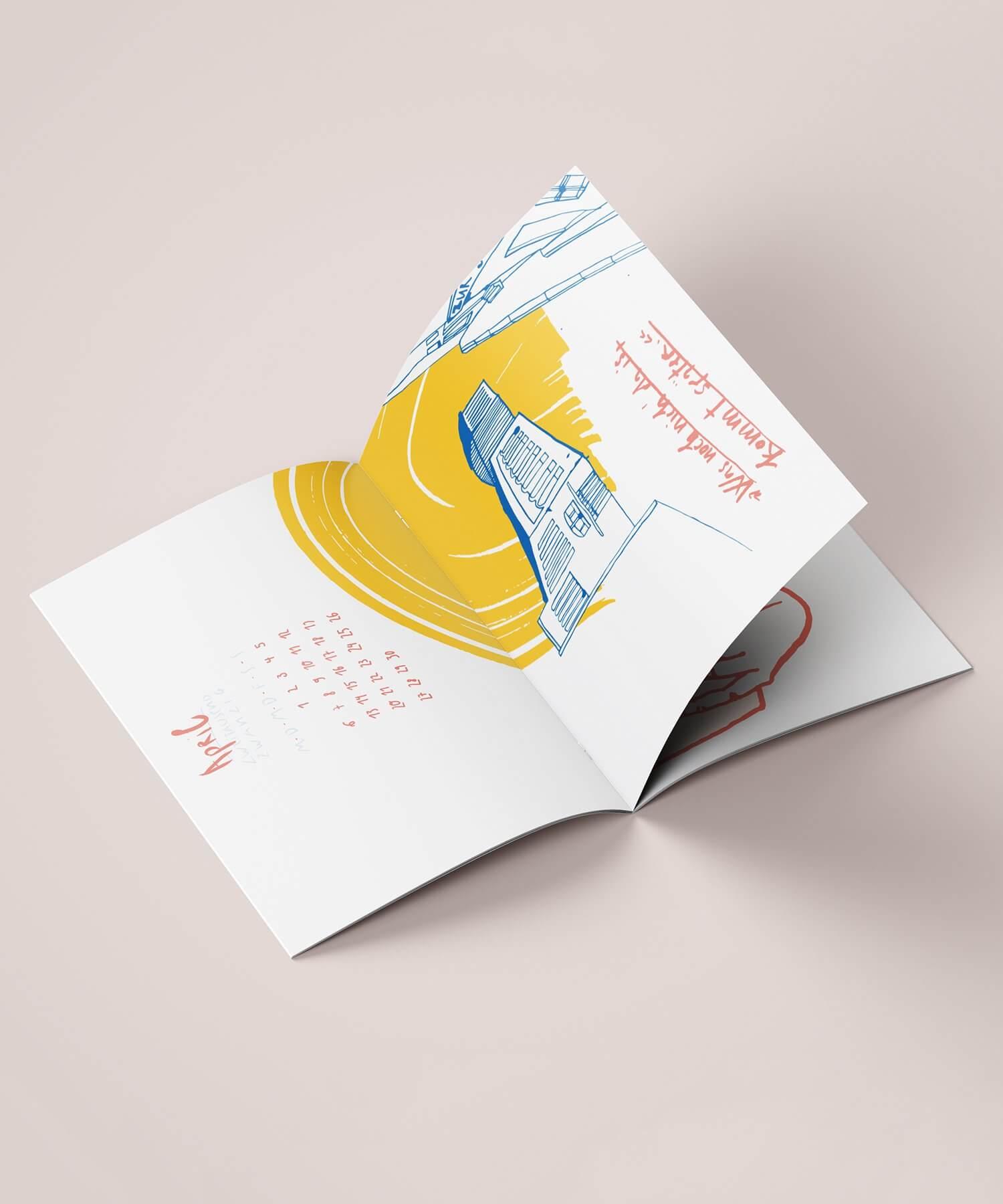 Matrosenhunde Illustration Aprilzeichnung Kalender 2020 Papierkalender Kunstkalender Illustrationskalender