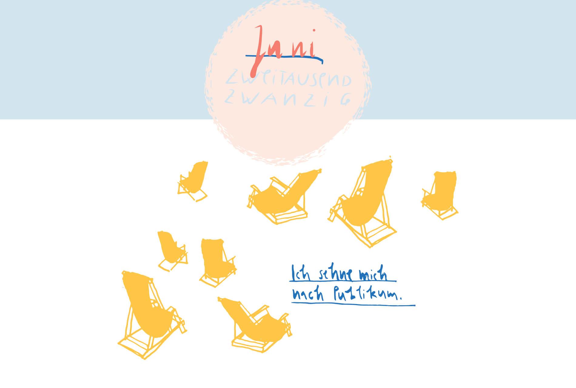 Matrosenhunde Illustration Zeichnung Illustratorin Text Prosa Monatskalender Juni, ich sehne mich nach Publikum