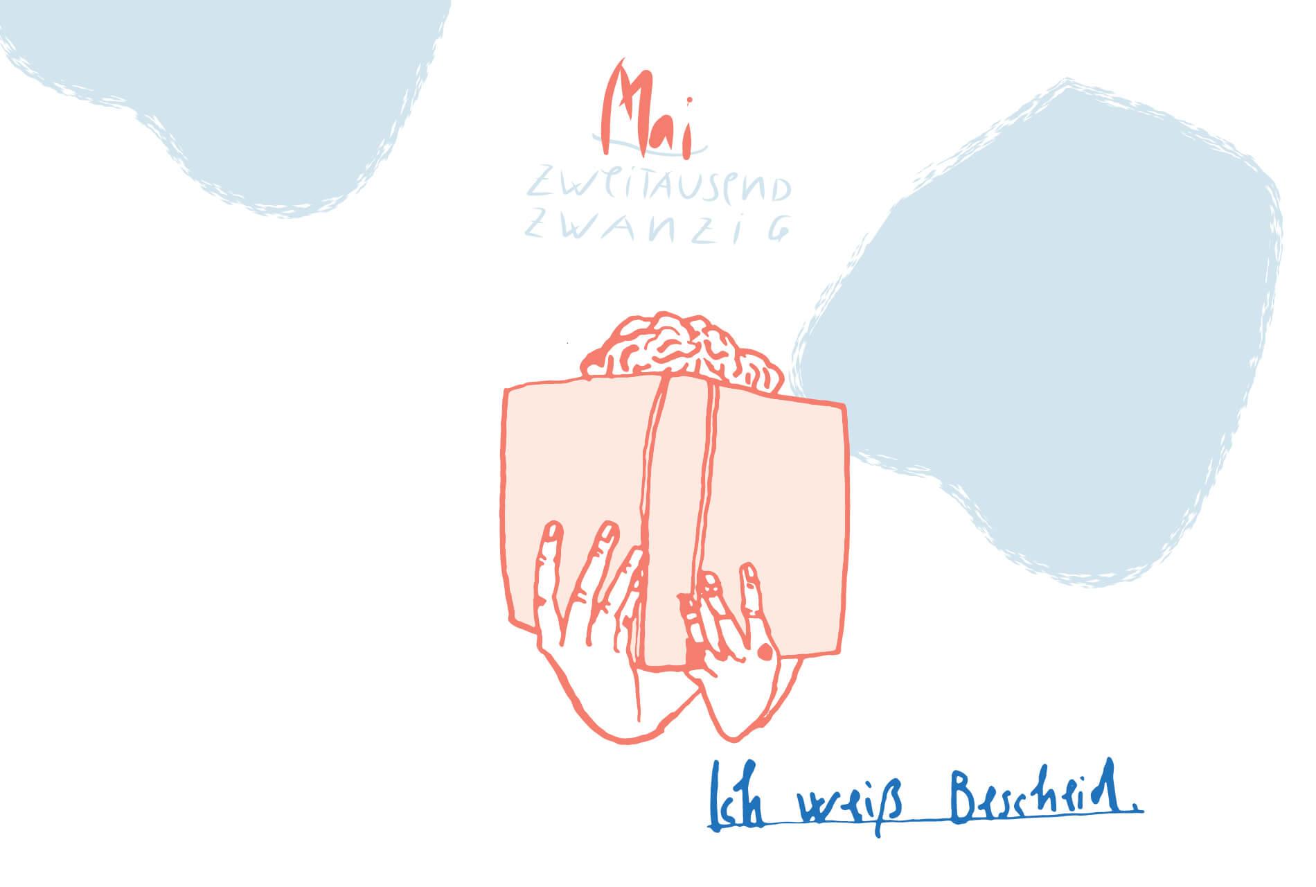 Matrosenhunde Illustration Zeichnung Illustratorin Text Prosa Monatskalender Mai, ich weiß bescheid