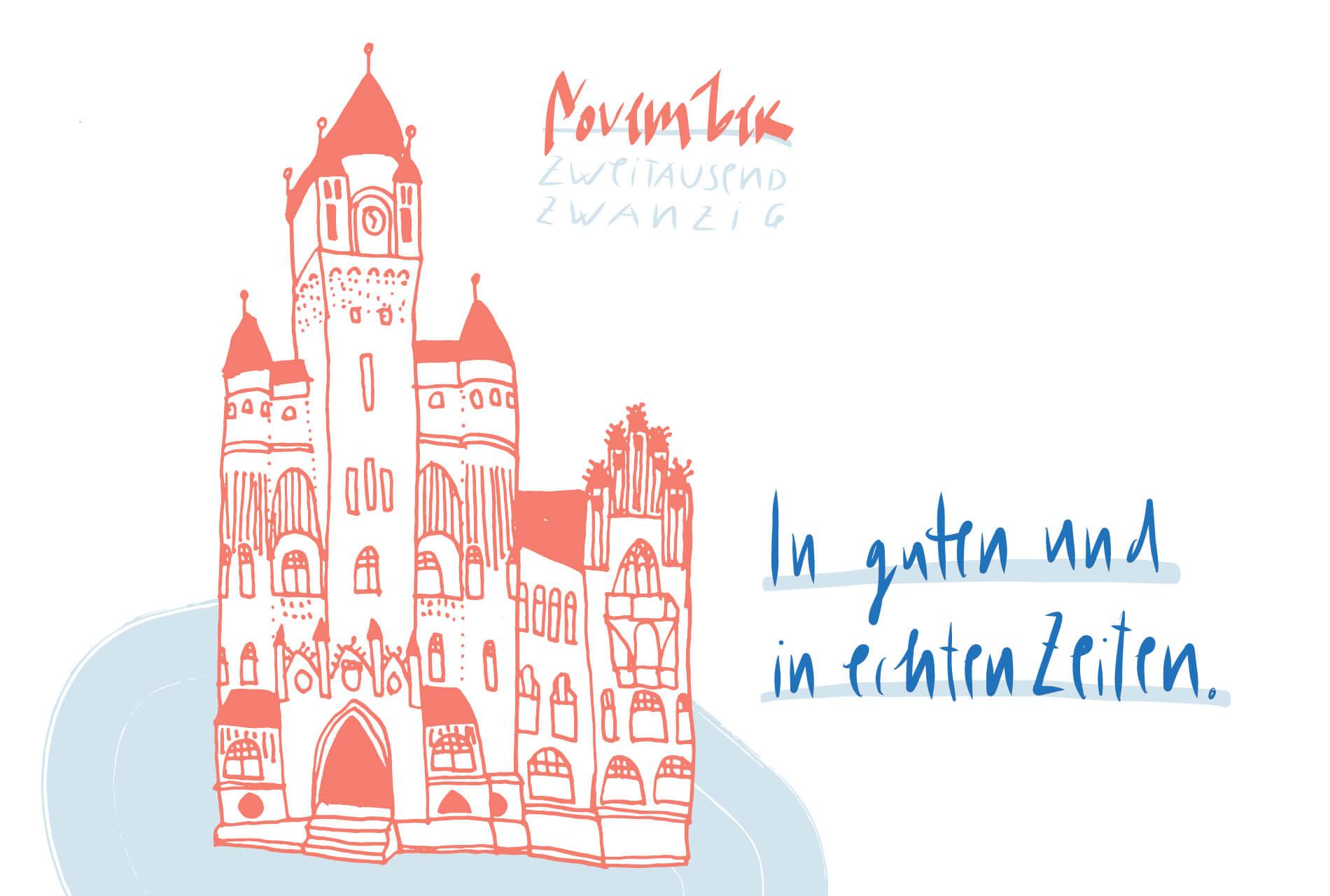 Matrosenhunde Illustration Zeichnung Illustratorin Text Prosa Monatskalender November, in guten und in echten zeiten