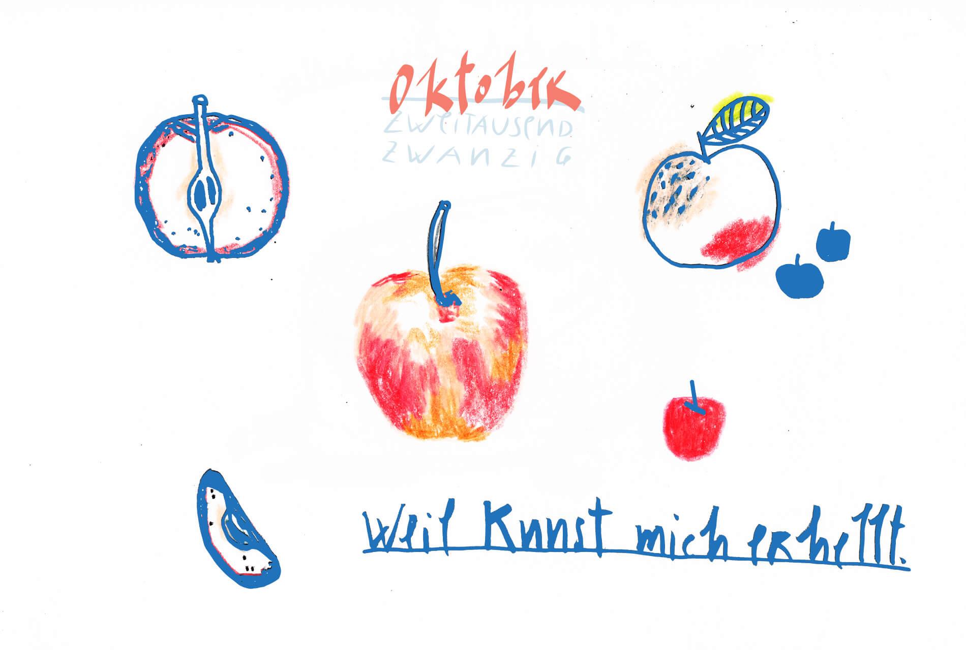 Matrosenhunde Illustration Zeichnung Illustratorin Text Prosa Monatskalender Oktober, weil kunst mich erhellt