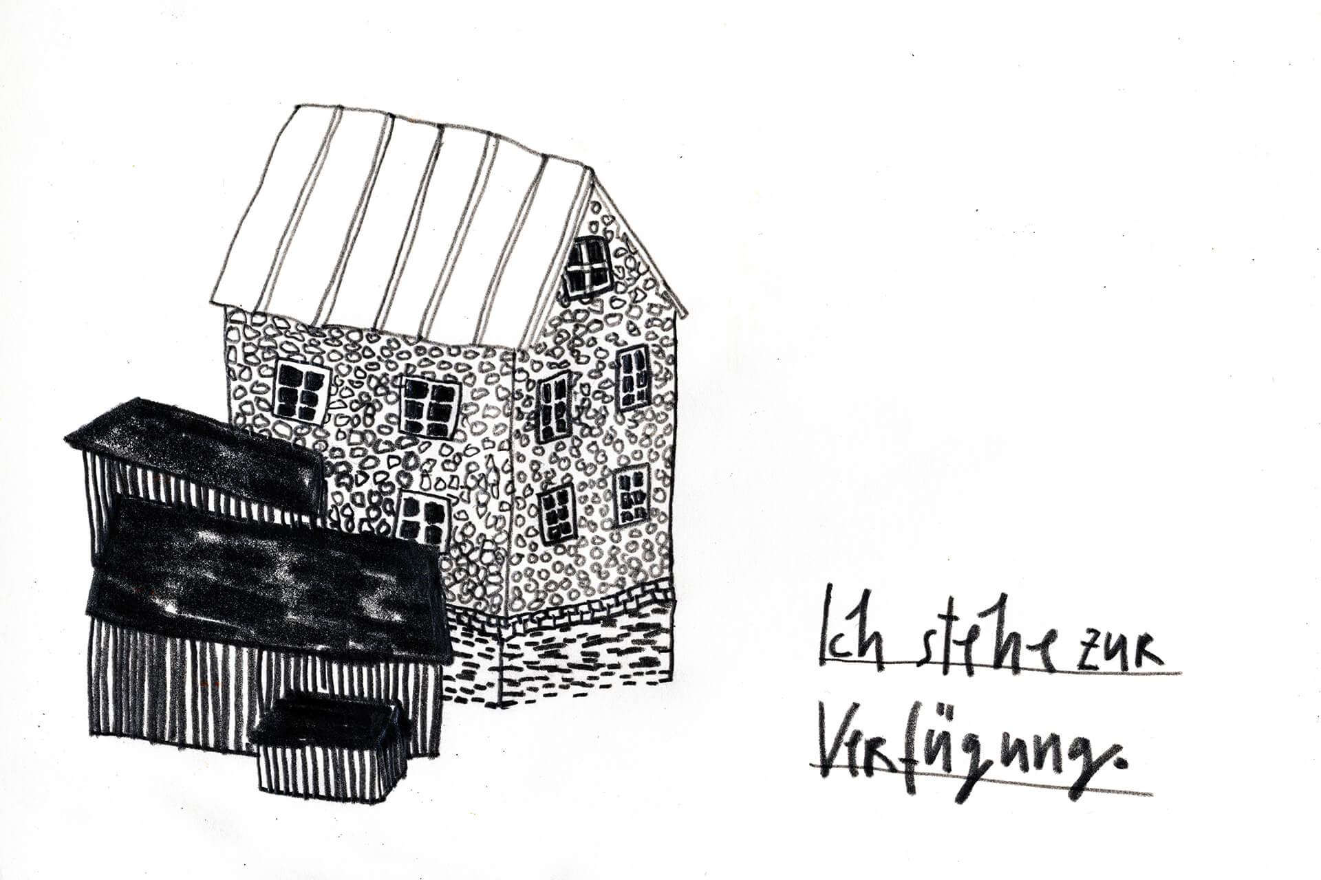 Matrosenhunde, Wochenkalender, Illustration Berlin, text, handlettering, Handschrift, Haus, Häuser, Heim, house, home, Landleben, country life, Hygge, hyggelig, zeichnung