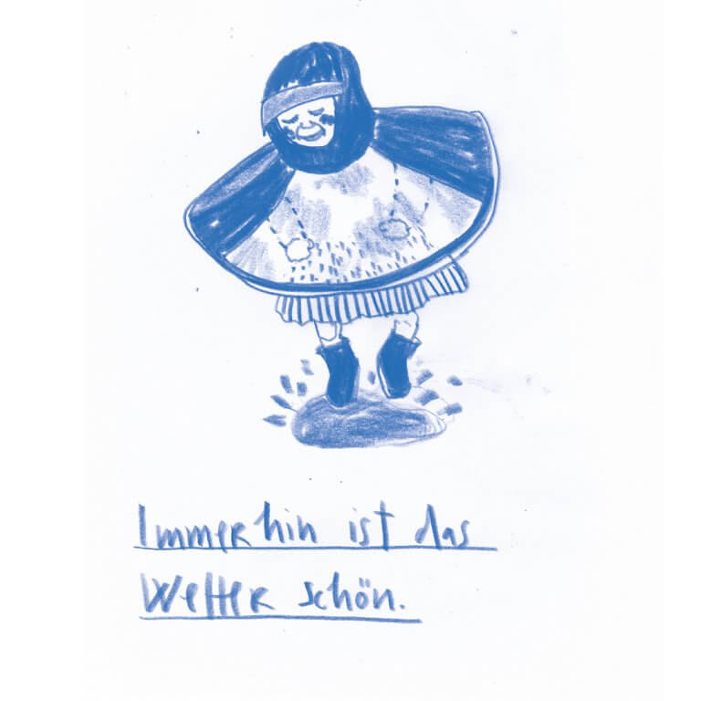 Matrosenhunde, Wochenkalender, Illustration Berlin, text, handlettering, zeichnung, Wetter, weather, Kind, kid, Regen, Rain, Pfütze, Spaß, fun, Leben