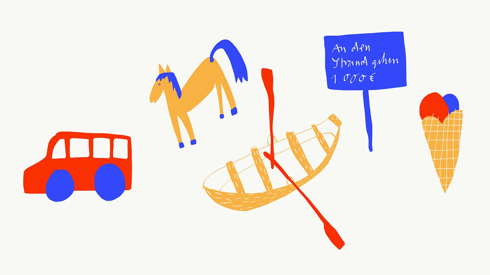 Matrosenhunde Jornal Bus Pferd Boot Verbotsschild