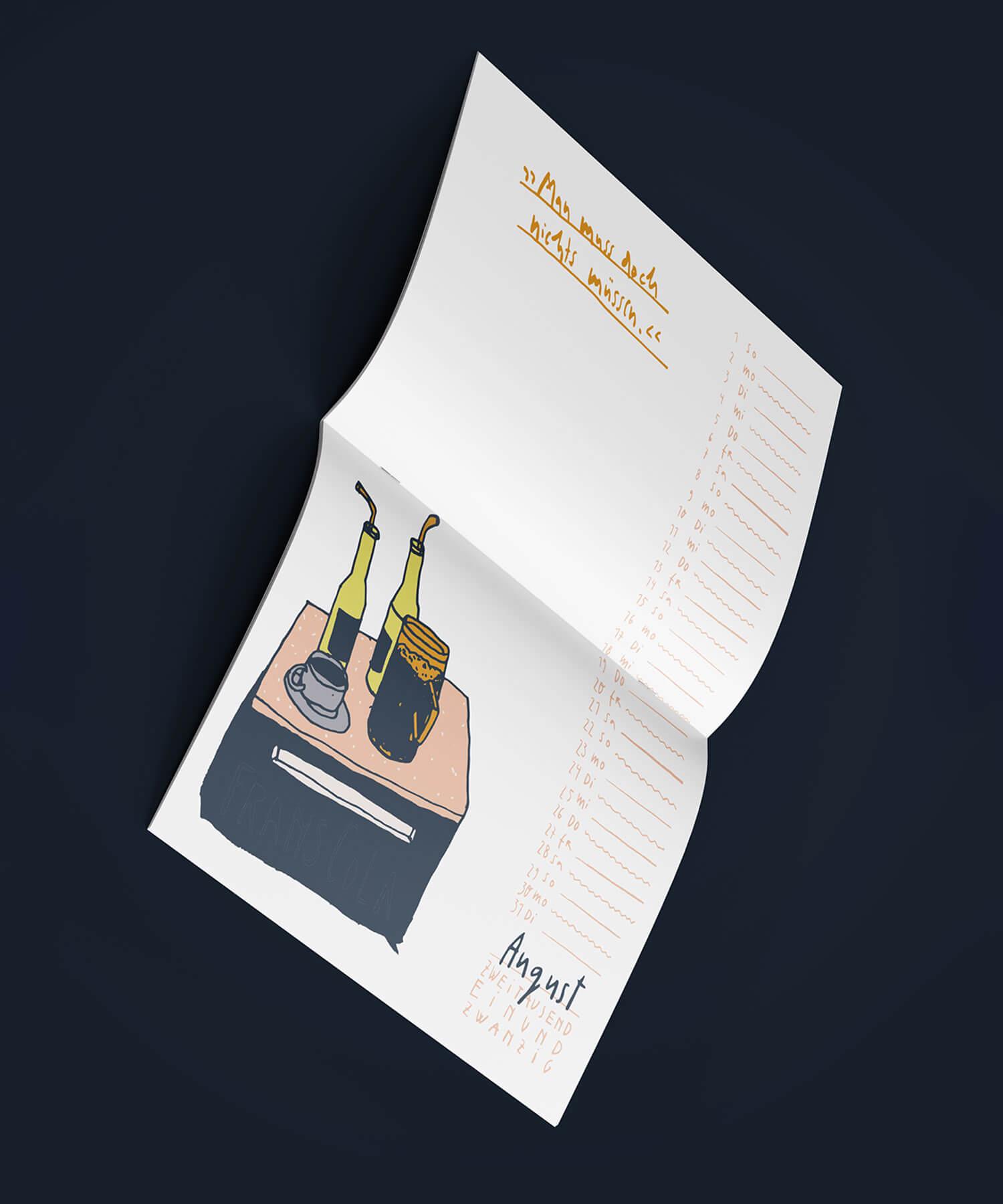 Matrosenhunde Illustration zeichnung Kalender 2021 Papierkalender Kunstkalender Illustrationskalender