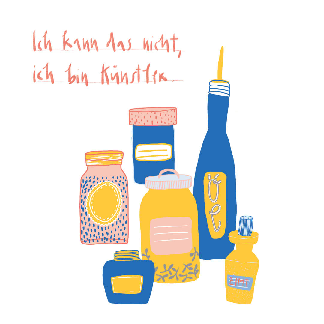Matrosenhunde, Illustration, Berlin, Wochenkalender, Ich kann das nicht, ich bin Künstler.